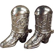 Old Western Boots - Vintage Salt & Pepper Set - Montana Souvenir