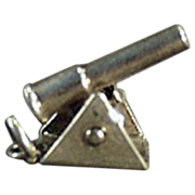 Vintage, Sterling Silver Charm - Moveable Cannon