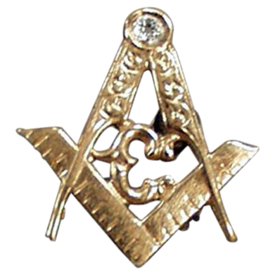Vintage, Masonic Lapel Pin - Beautiful Detail