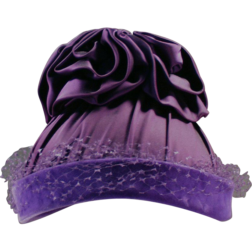 Outrageously Purple, Vintage Hat