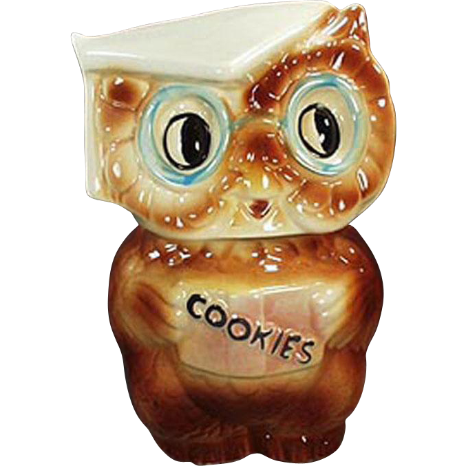 Vintage, American Bisque, Cookie Jar - Collegiate Owl