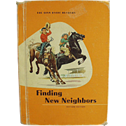 Vintage School Book - Finding New Neighbors - 1961