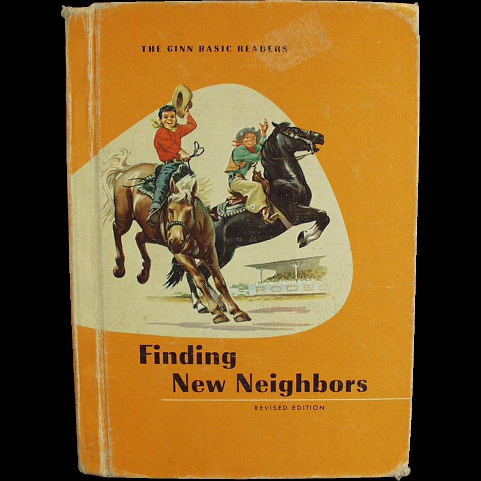 Vintage School Book - Finding New Neighbors - 1961