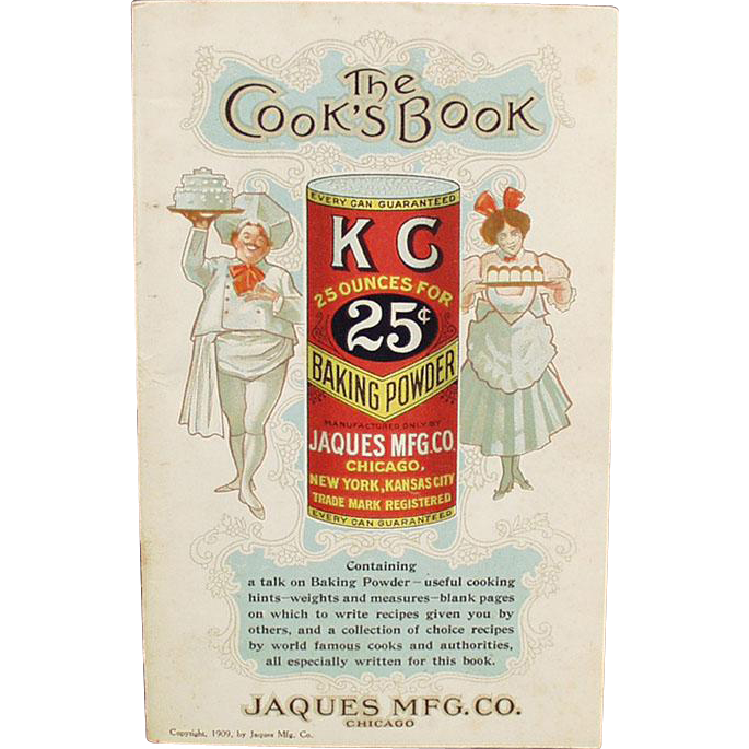Vintage, K C Advertising, Recipe Booklet