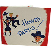 Vintage, Hopalong Cassidy Party Invitation