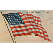 Vintage, Patriotic Postcard - The American Flag