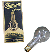 Vintage, Electric Light Bulb - Champion with Original Box