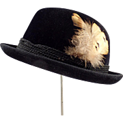 Gentleman's Vintage, Black Stetson, Royal De Luxe Fedora Hat