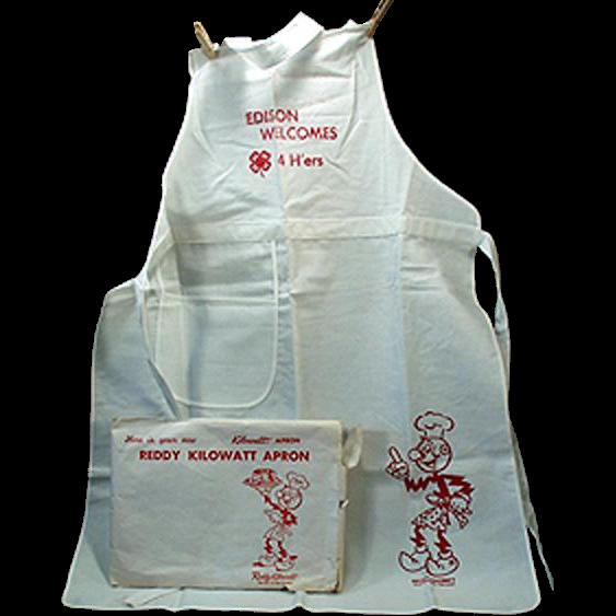 Vintage, Reddy Kilowatt - 4H Advertising Apron