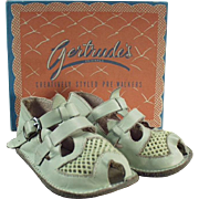 Vintage, Baby's Sandals Gertrude with Original Shoe Box