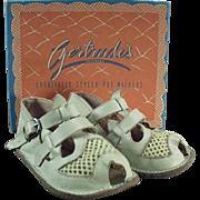 Vintage, Baby's Sandals Gertrude with Original Shoe Box