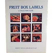 Old Reference Book on Vintage Fruit Box Labels