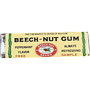 Vintage, Beech-Nut Gum, Sample Stick