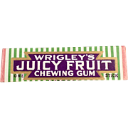 Vintage Chewing Gum - Wrigley's, Juicy Fruit Stick
