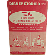 Vintage, Tru-Vue, 3-Dimensional Slides - Disney Stories