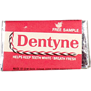 Vintage Gum Sample - Dentyne Tab