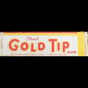 Vintage Chewing Gum, Single Stick - Gold Tip Fruit