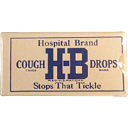 Vintage, H-B Cough Drops - Sample Box - Unopened