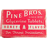 Vintage, Pine Bros.Cough Drops - Sample Box