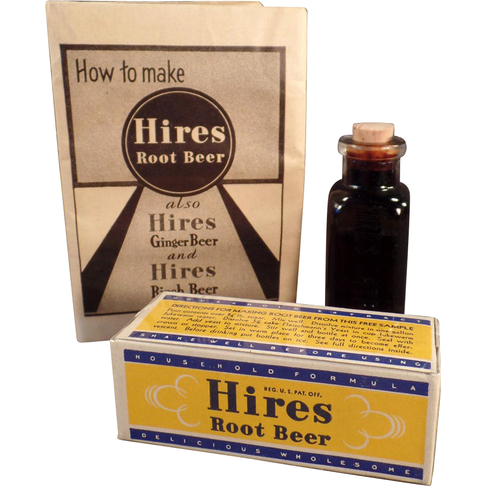 Vintage, Hires Root Beer Extract, Advertising Sample