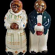 Vintage Black Memorabilia - Mammy & Butler Salt & Pepper Set