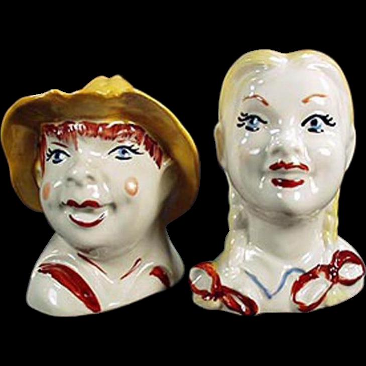 Vintage, Old Mac Donald Salt & Pepper Set - Regal China