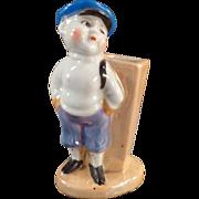 Vintage Toothbrush Holder - Little Boy in Knickers - Lusterware