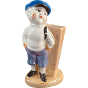 Vintage Toothbrush Holder - Little Boy in Knickers - Lusterware