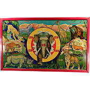 Vintage Target Game - Wild Africa with Original Box - Colorful Graphics