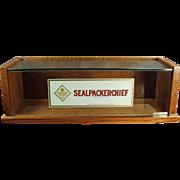Vintage Handkerchief Display Case - Original Sealpackerchief Decals
