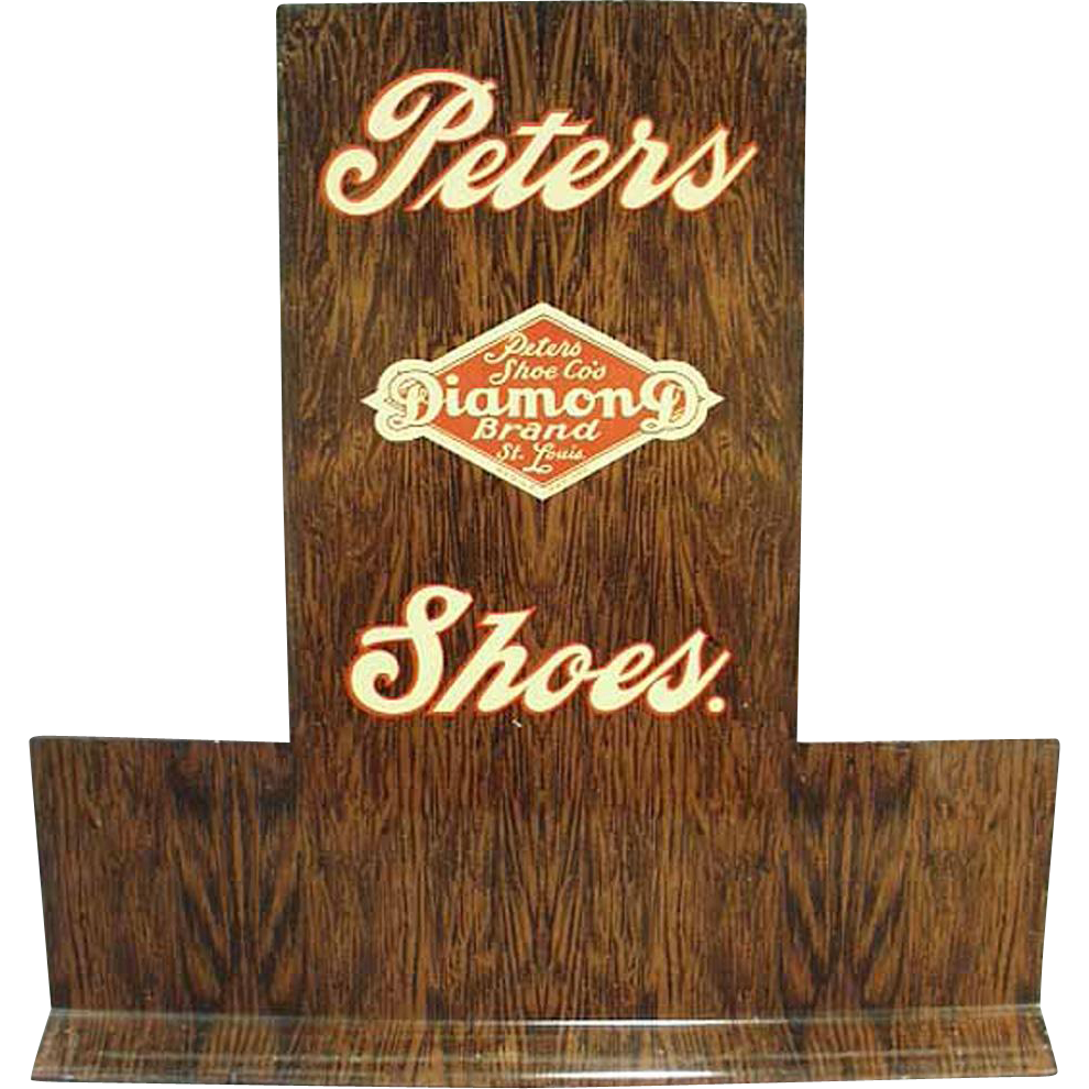 Vintage, Advertising Shoe Stand -  Peters Diamond Brand Shoes