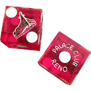 Vintage, Palace Club Gaming Dice - Reno Nevada