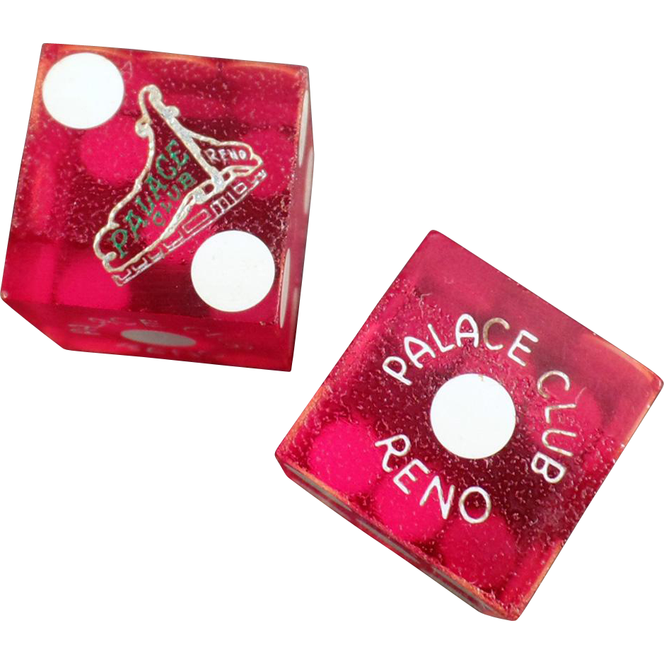 Vintage, Palace Club Gaming Dice - Reno Nevada