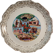 Vintage, New Mexico Souvenir Plate with Noted Landmarks