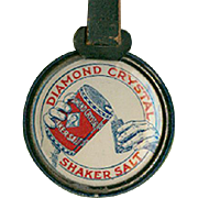 Vintage Advertising Watch Fob - Diamond Salt - Celluloid Sides