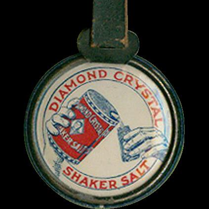 Vintage Advertising Watch Fob - Diamond Salt - Celluloid Sides
