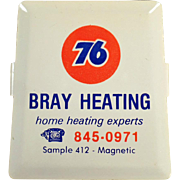 Vintage, Advertising Paper Clip - Union 76 - Bray Heating