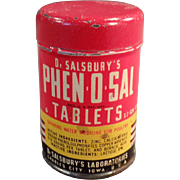 Vintage, Dr. Salsbury's Phen-O-Sal Tablets for Poultry - Sample Tin