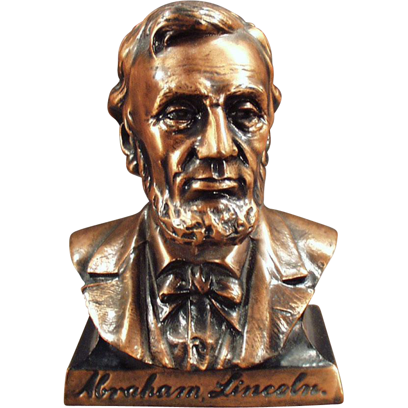 Vintage Bank -  Abraham Lincoln Bust - Figural Coin Bank