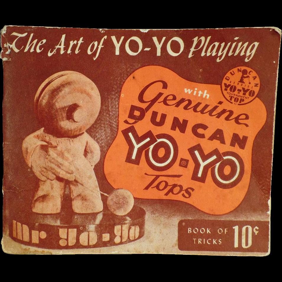 Vintage Yo-Yo Booklet  - The Art of Yo-Yo Playing - 1950
