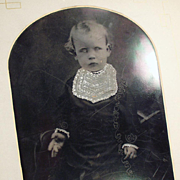 Vintage, Tintype Photograph - Young Child - Large Size Format