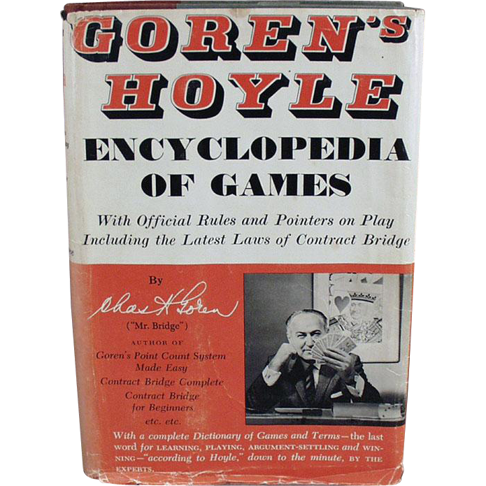 Old Book, Encyclopedia of Games by Goren - 1961 Hardbound