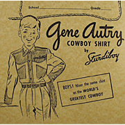 Vintage, Gene Autry Composition Book - Falk's Store Advertising