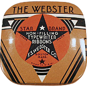 Vintage Ribbon Tin -  Webster Typewriter Ribbon - Small Size
