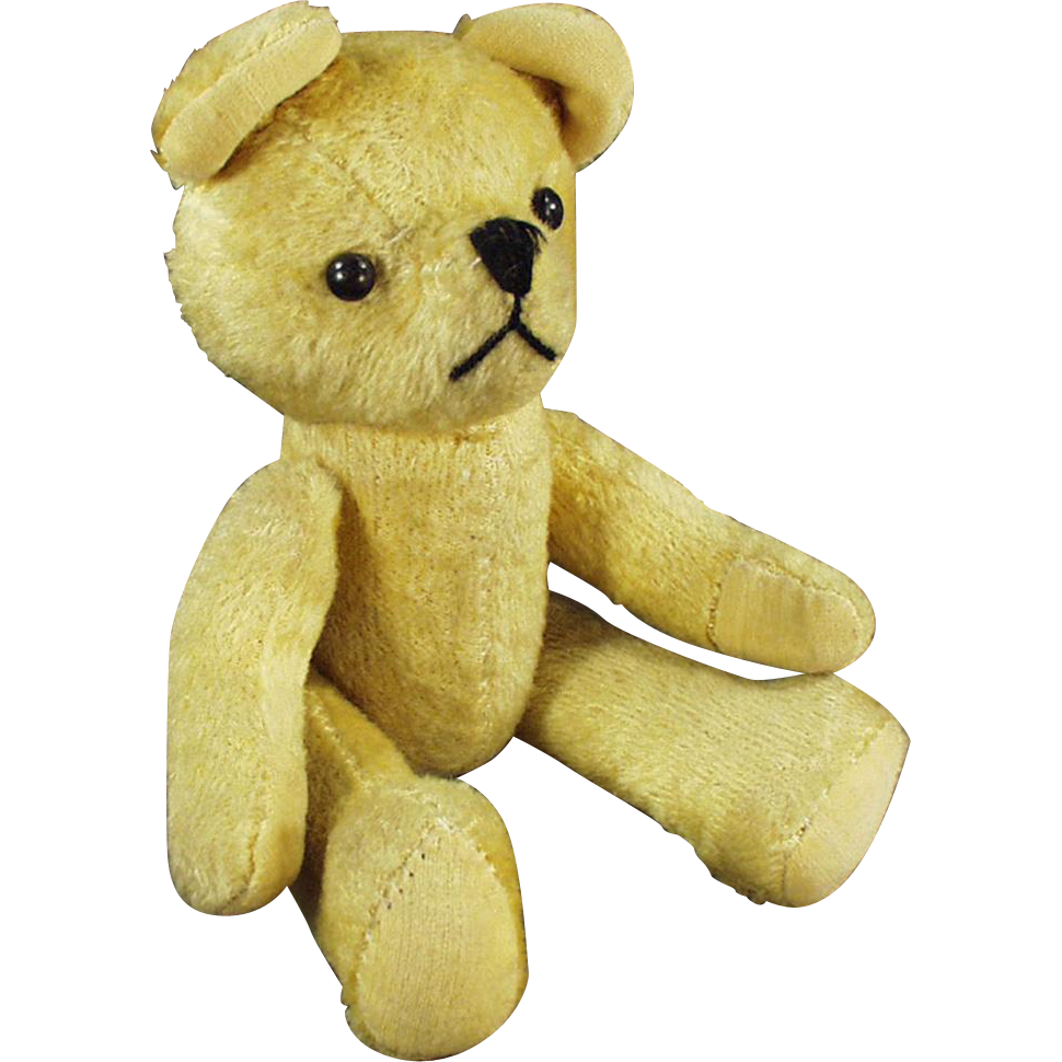 Vintage, Gold Mohair Teddy Bear - Jointed and with a Squeaker