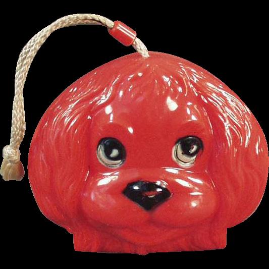 Child's Vintage Purse - Fun, Plastic Dog Face