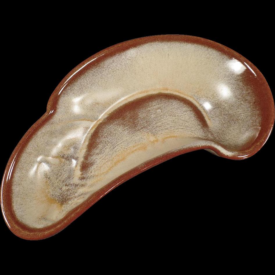 Frankoma, Lazybones Bone Dish- Desert Gold Glaze