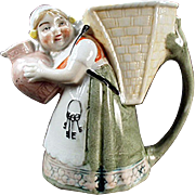 Vintage Schafer & Vater Pitcher - Little Girl with Keys and Pitcher