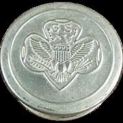 Vintage, Folding Aluminum Cup - Girl Scout's Emblem