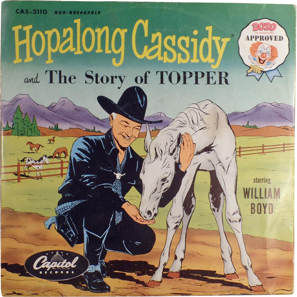 Child's, Vintage 78 Record - Hopalong Cassidy & the Story of Topper